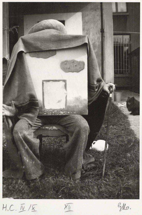 René Magritte- Dieu, le huitième jour , avec Le rendez-vous inachevé sur ses genoux, (God, the Eight Day), from the portfolio René Magritte La Fidélité des Images , Jette (Bruxelles)