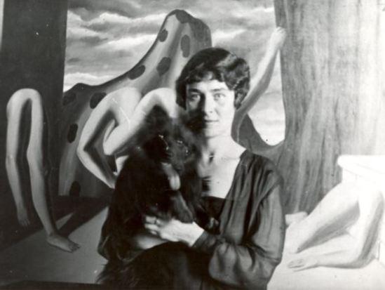 René Magritte-La fidélité des images- La création des images,Georgette Magritte avec son chien Le Perreux-sur-Marne (Paris), 1928