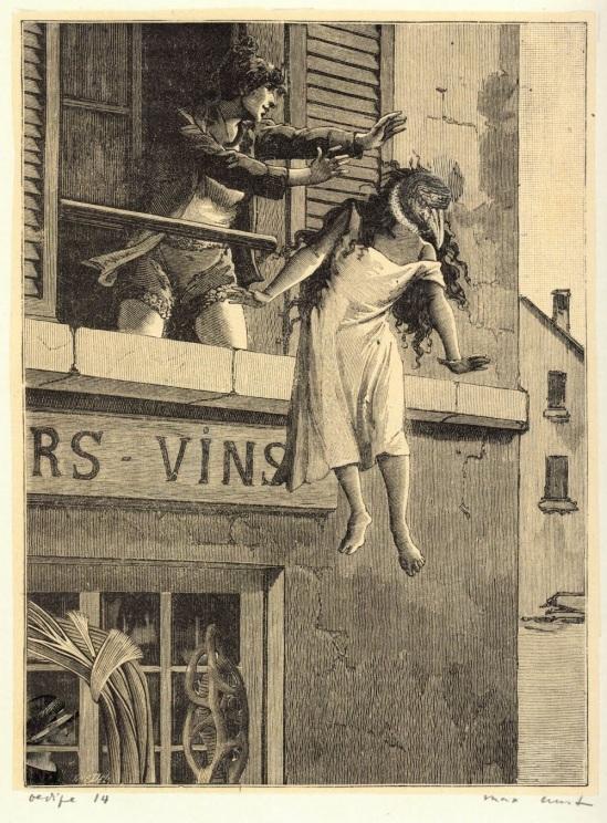 Max Ernst, Collage tiré de Une semaine de bonté, Oedipe 7, 1933 © Isidore Ducasse Fine Arts. Photo Peter Ertl. © ADAGP