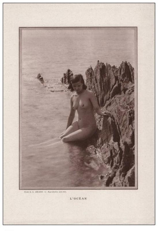 Etude G. L Arlaud - l'Océan, nu érotique 1930