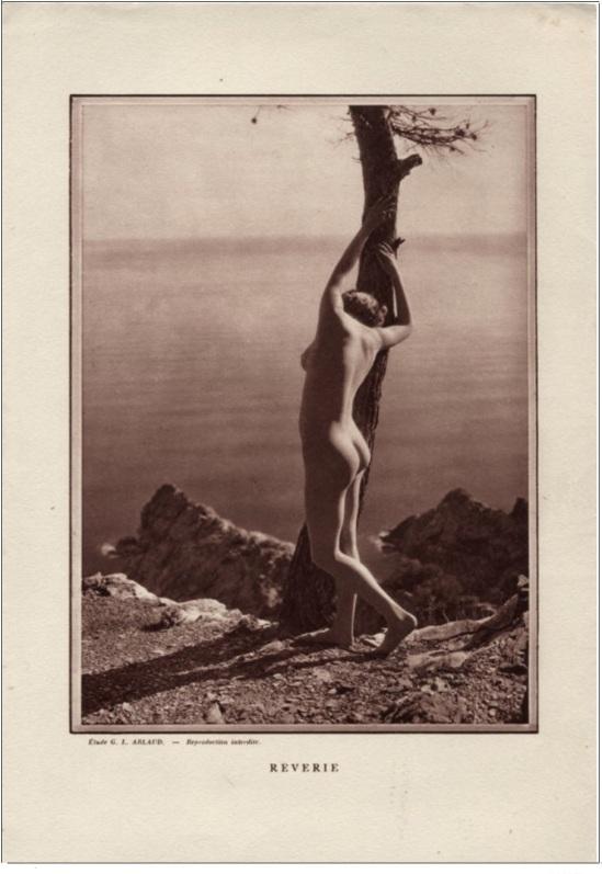 Etude G. L Arlaud  -Reverie, 1930