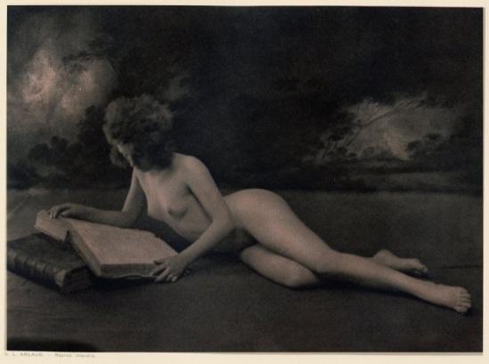 G. L Arlaud - La liseuse Vingt Études de Nu en Plein Air, 1920