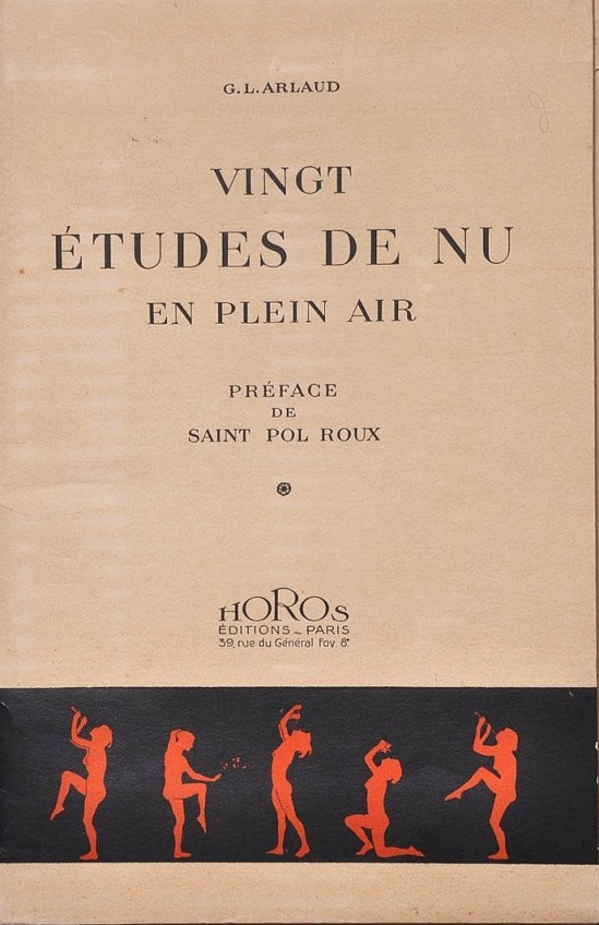 G.L. Arlaud  Portfolio cover for G.L. Arlaud Vingt Etudes de Nu en Plein Air (Paris, Horos Editions, 1920)  [Vingt Etudes de Nu en Plein Air]  1920