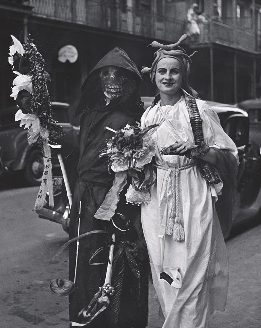 John Gutmann-Death at the Mardi Gras, New Orleans, 1937