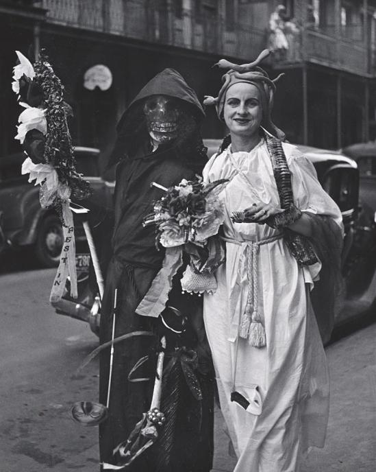 John Gutmann-Death at the Mardi Gras, New Orleans, 1937