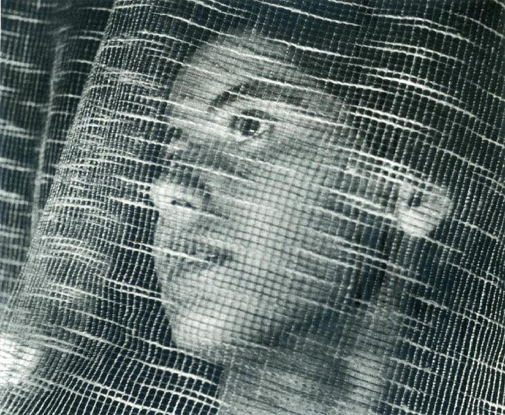 John Gutmann- Face Behind Curtain, 1937 © Arizona Board of Regents