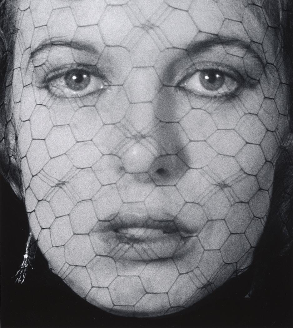 John Gutmann-In Veiled Face, Blue Eyes, 1939