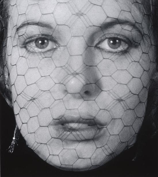 John Gutmann-In Veiled Face, Blue Eyes, 1939