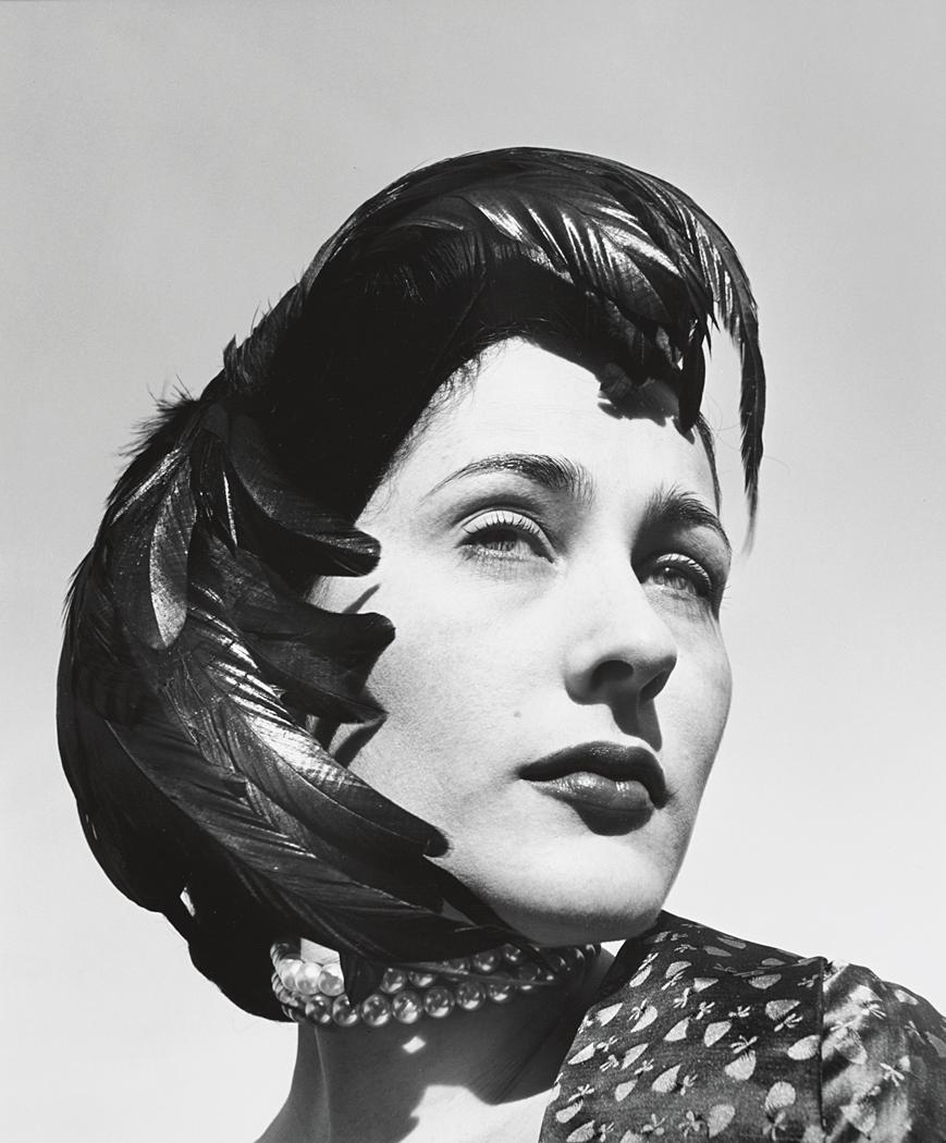 John Gutmann-Very Beautiful in Feather Hat, 1951