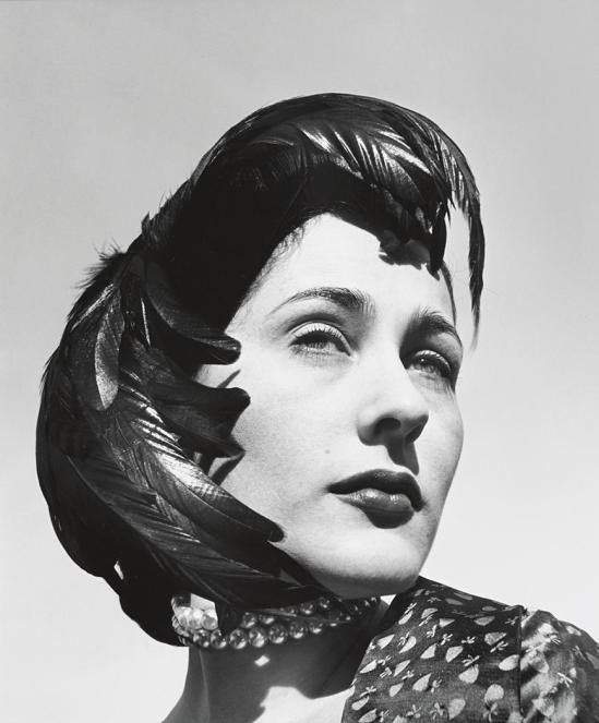 John Gutmann-Very Beautiful in Feather Hat, 1951
