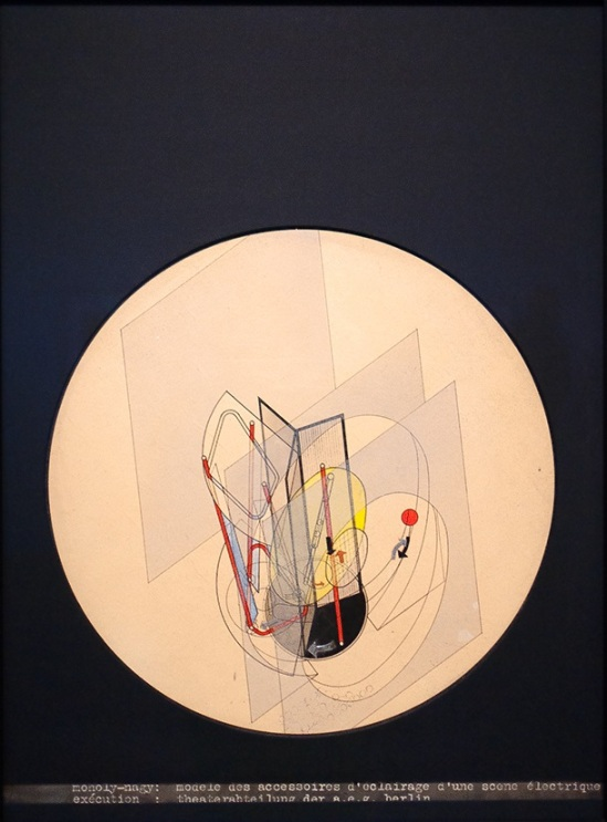 László Moholy-Nagy – Light prop for an electric stage, 1922-1929 (collage, ink and watercolour on paper), Gemeentemuseum Den Haag
