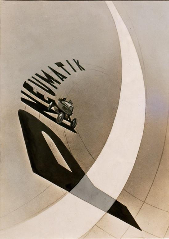 László Moholy-Nagy – Pneumatik, 1924 (encre, aérographe, sur papier photo) Gemeentemuseum Den Haag