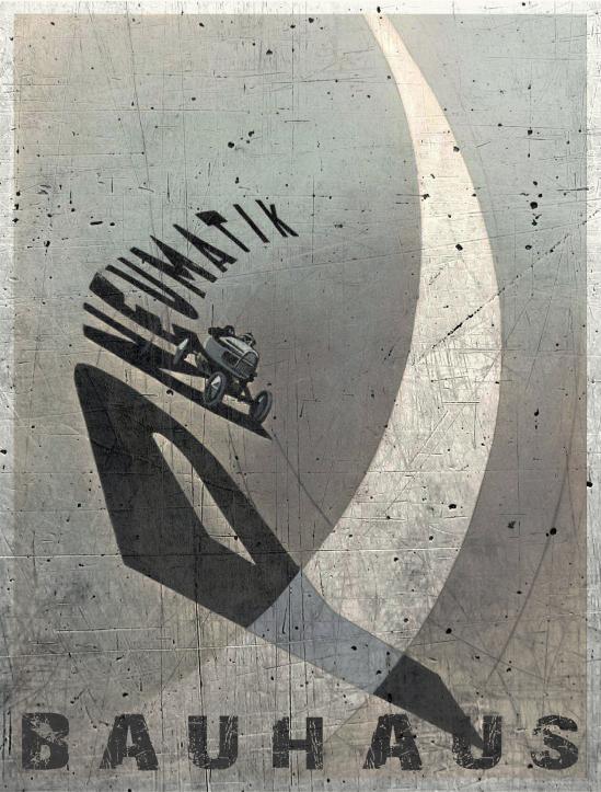 László Moholy-Nagy - Pneumatik, 1924 (encre, aérographe, sur papier photo)