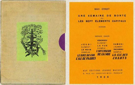 Max Ernst- Une semaine de bonté Jeudi Vendredi Samedi Cahier , 1934