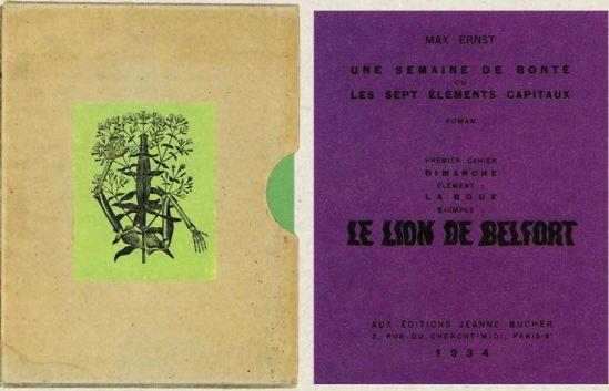 Max Ernst- Une semaine de bonté premier Cahier dimanche le lion de Belfort, 1934