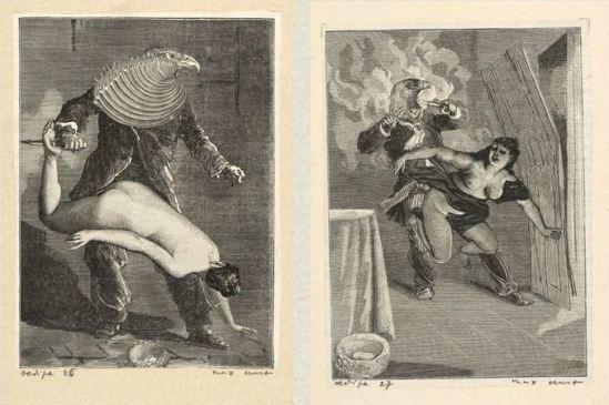 Max Ernst- Une semaine de bonté quatrieme cahier Mercredi Oedipe Cahier ,1934