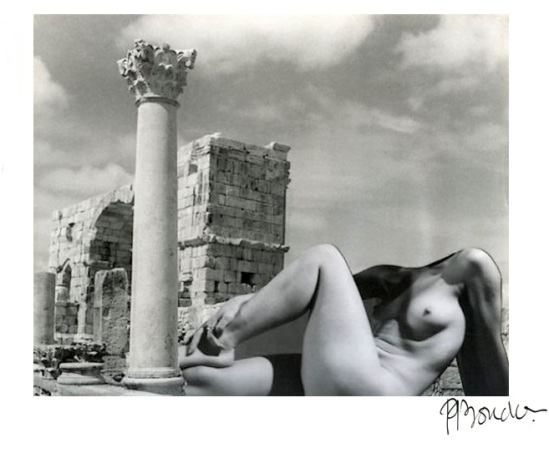 Pierre-Boucher-Antique nude, Volubilis ruins in Morocco,1936 from Les Fantasmagories du Nu# 6 , 1937