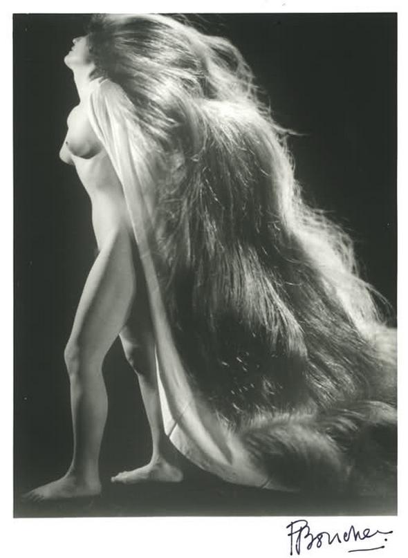 Pierre Boucher, Nu à la chevelure, 1943 photomontage,