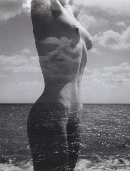 Pierre Boucher -Nu dans la mer, Surimpression, 1932