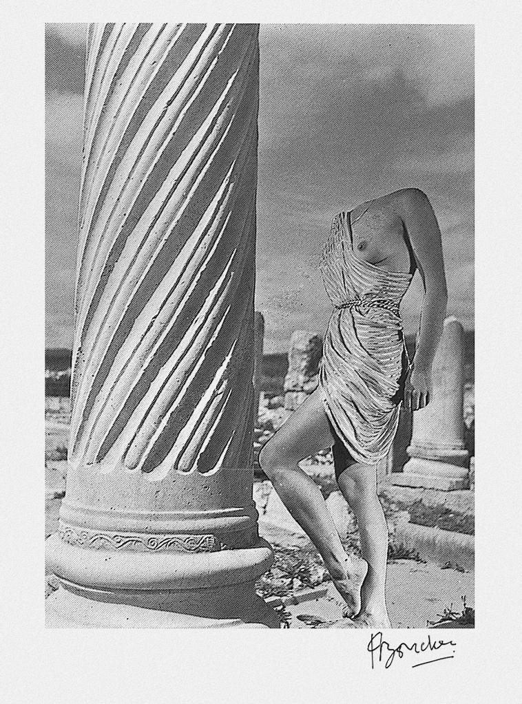 Pierre boucher Nu - Ruines de Volubilis, #8 1937 from Les Fantasmagories du Nu series 1 - Copie