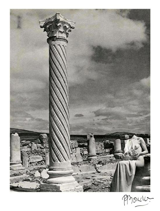 Pierre boucher Nu - Ruines de Volubilis,1937 , Les Fantasmagories du Nu 9
