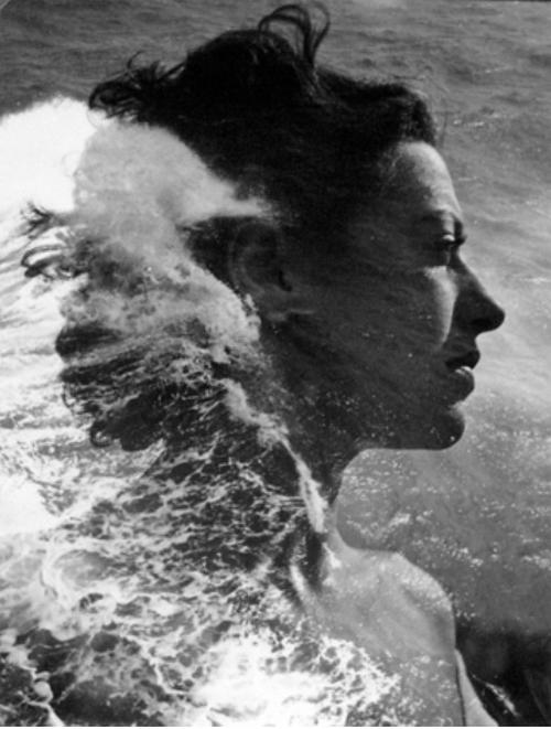 Pierre Boucher-portrait à la vague,1936-1938, surimpression