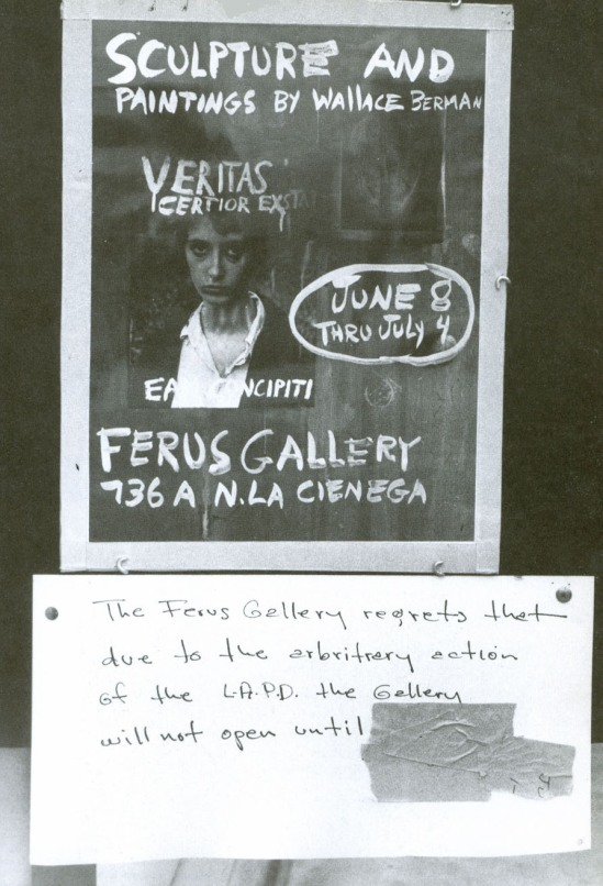 Wallace Berman- affiche exposition Ferus Gallery