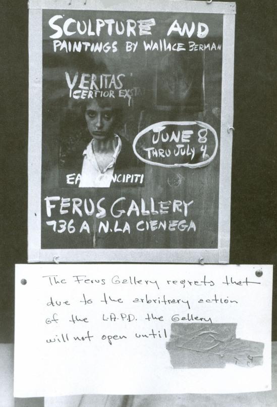 Wallace Berman- affiche exposition Ferus Gallery