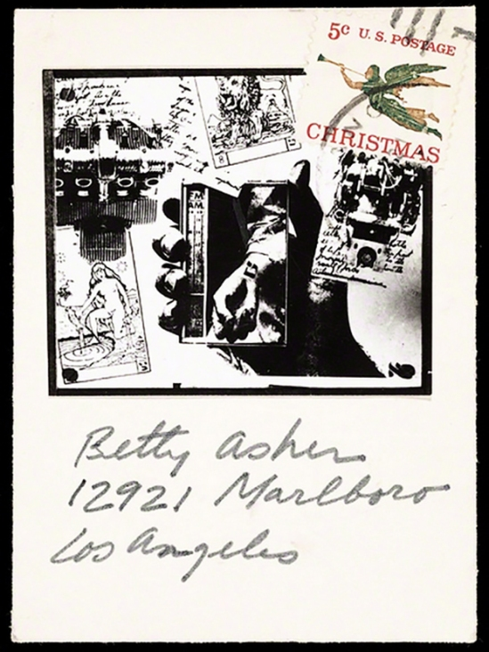 Wallace Berman - Card to Betty Asher, ca. 1965, Wallace Berman. Photomontage