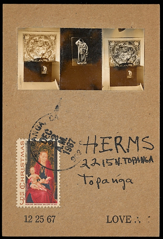 Wallace Berman Card to George Herms, 1967