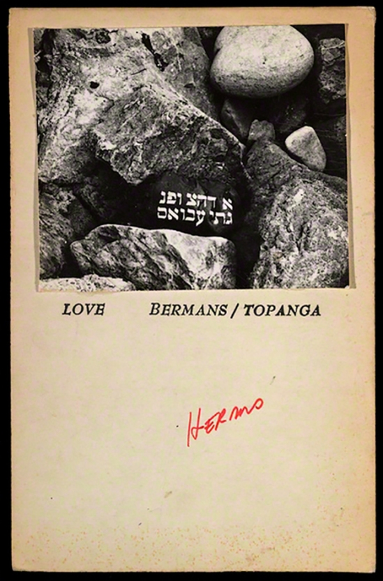 Wallace Berman Card to George Herms, 1970,