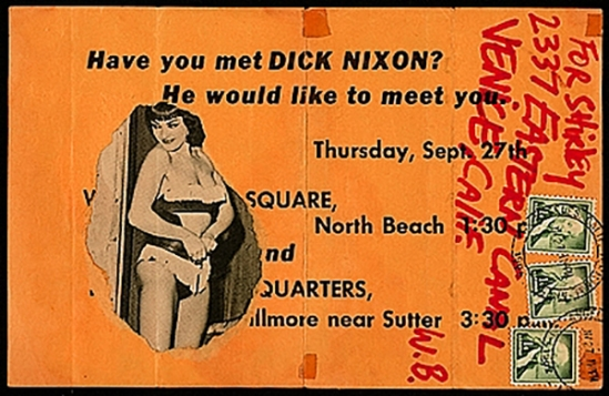 Wallace Berman mail art, 1962 Nov. 27. Robert Alexander