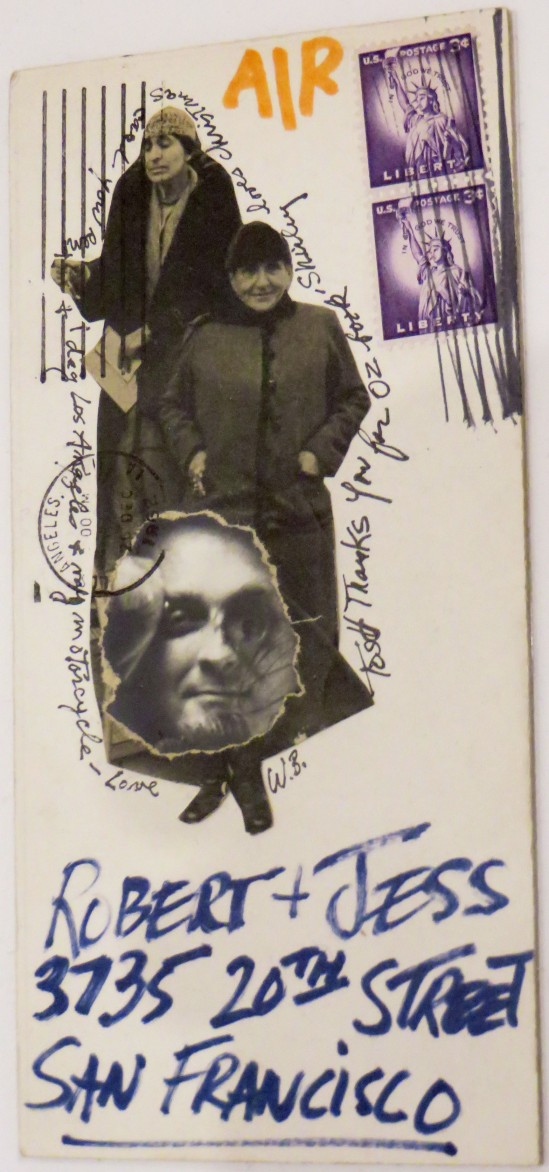 Wallace Berman Mail Art to Robert Duncan and Jess Circa 1962 (Collection Philip Aarons and Shelly Fox Aarons) Courtesy of the Crocker Art Museum