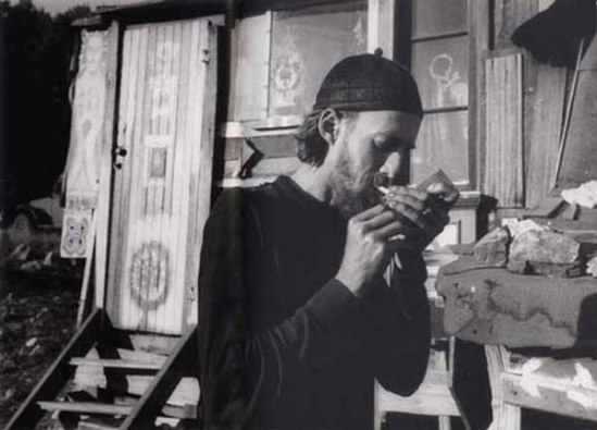 Wallace Berman Photographs Bob Brannaman, Big Sur, early 1960s