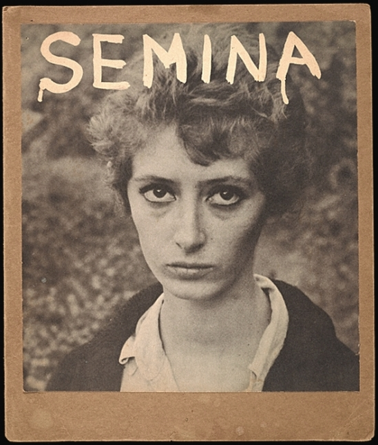 Wallace Berman- Semina cover with Wife (photograph of Shirley Berman), 1959, Wallace Berman. Semina journal, no. 4 (1959)