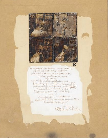 Wallace Berman. Untitled (Michael McClure Poem), 1964 1