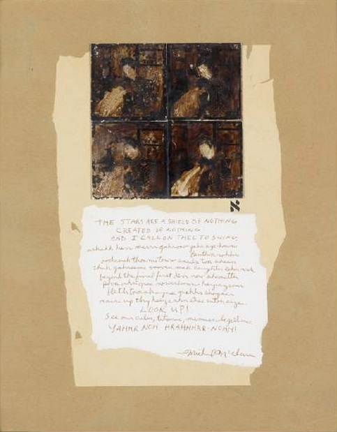 Wallace Berman. Untitled (Michael McClure Poem), 1964