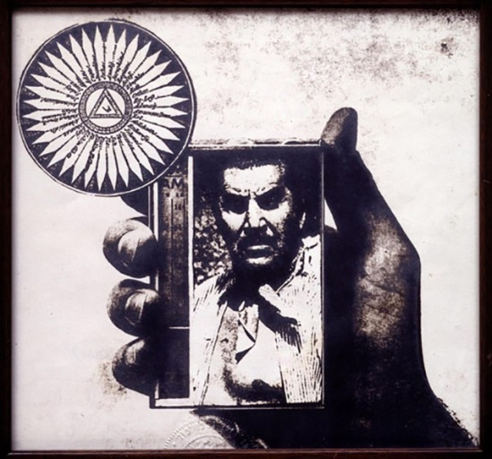Wallace Berman - Untitled (R.E. Hand, Mexican Dictator), 1976 positive image verifax collage