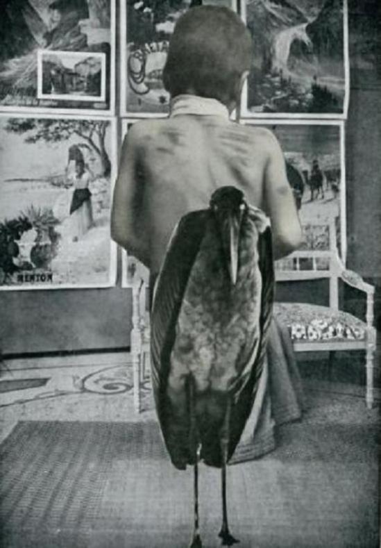 """Collage d'André Breton et de Paul Eluard pour """" Le Tombeau des Secrets """" de René Char en 1930"""