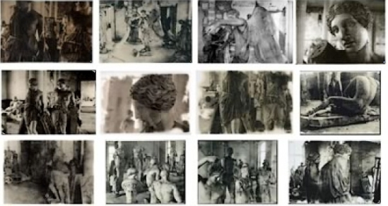 Deborah Turbeville-  12 plates from The Louyre, Versailles,  from Unseen Versailles. Photographs by Deborah Turbeville. Introduction by Louis Auchincloss. Doubleday & Co., Garden City, NY, 1981