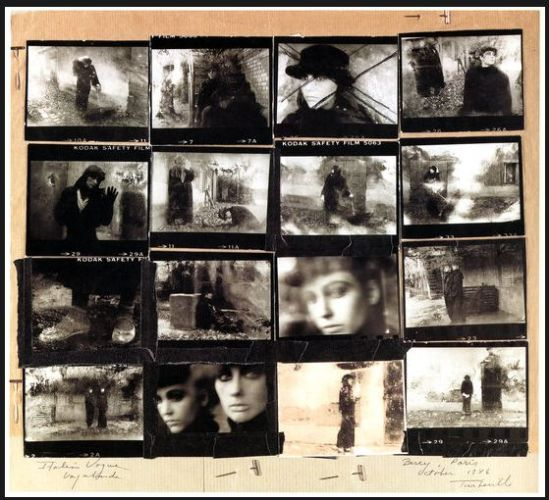 Deborah Turbeville- collage shot for  le Vogue Italia, Paris, 1986 from past imperfect