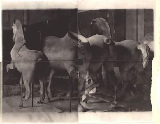 Deborah Turbeville – Horses bronze,from Unseen Versailles,  1981