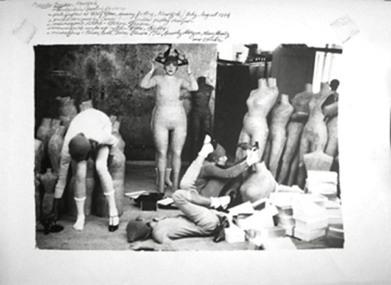 Deborah Turbeville, For Charles Jourdan Candy Pratt, Betsy Johnson, Ti, Beverly Morgan, Mary Martz, and Christa in clothes by Betsy Johnson, Woolf Form Dummy Factory in New York, 1974_e