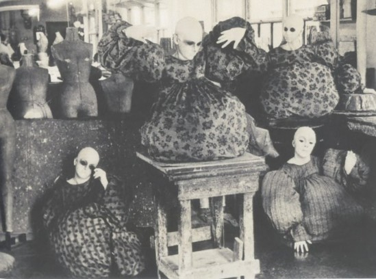 Deborah Turbeville, For Charles Jourdan Mannequins in clothes by Betsy Johnson, Woolf Form Dummy Factory in New York, 1974, from Past imperfect