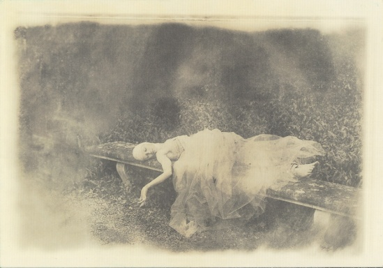 Deborah Turbeville-Untitled  for Parc Vaux le Vicomte, france, 1985, (postcard)