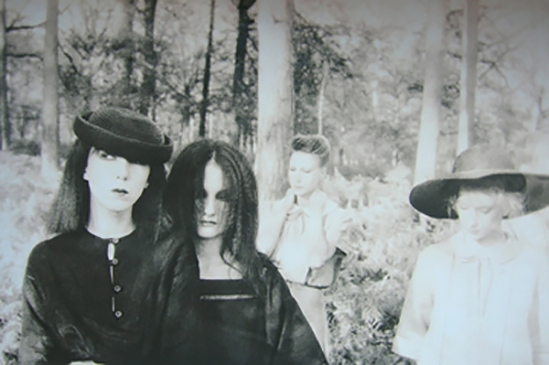 Deborah Turbeville, Women in The Woods,  Ella, Anna, Isabella, Fredericke, and Robin in Valentino at the Bois du Faux Repos, VOGUE Italia, Montova, Italy, 1977