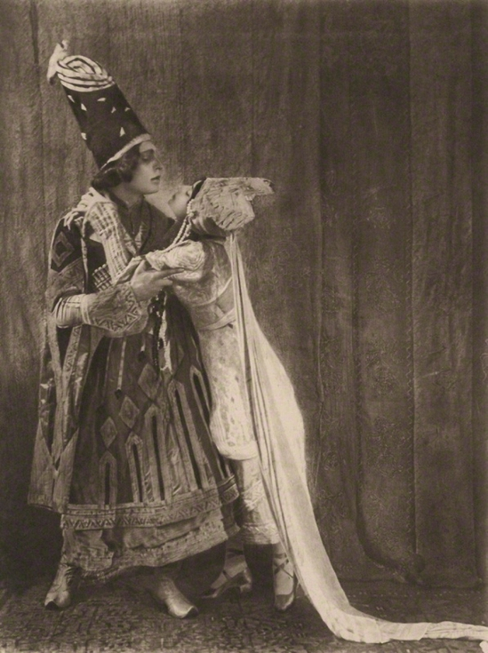 E. O. Hoppé - Malvina Adolph Bolm as the Prince and Tamara Karsavina as Queen Thamar in Thamara, 1912 photogravure