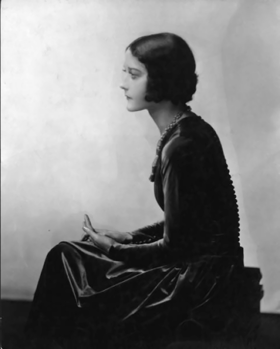 Emil Otto ('E.O.') Hoppé-- Seated Woman in Profile , 1928