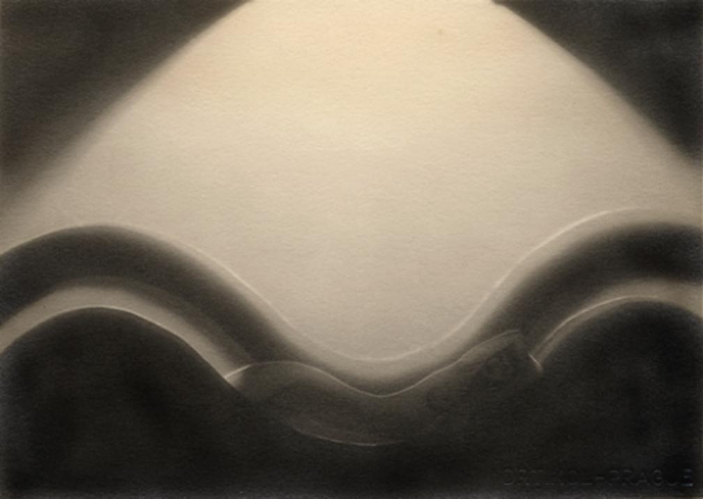 František Drtikol Untitled (cut-out nude with wave) c.1930-1935