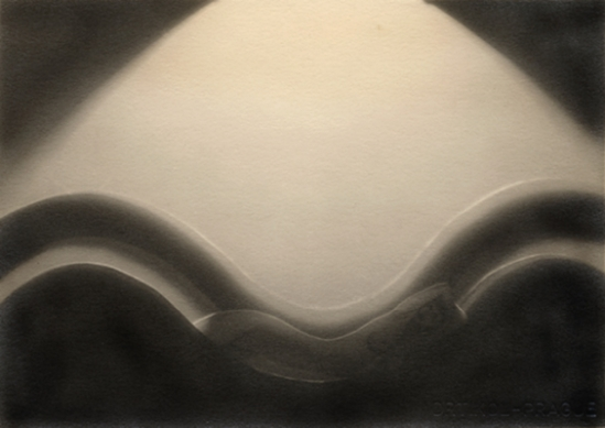 František Drtikol Untitled (cut-out nude with wave) c.1930-1935